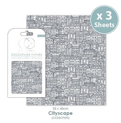 Cityscape - Decoupage Papers Set