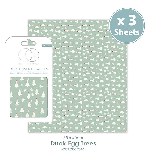 Duck Egg Trees - Decoupage Papers Set