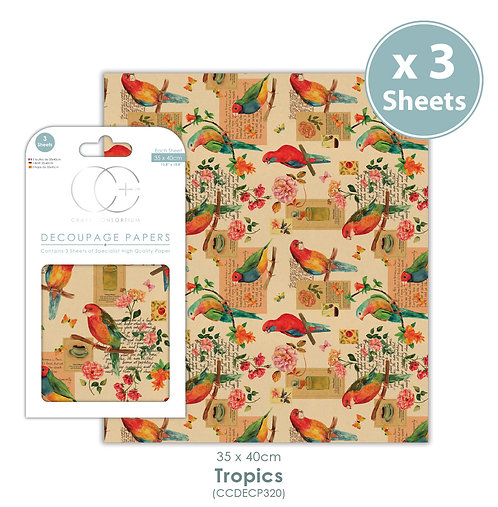 Tropics - Decoupage Paper Set