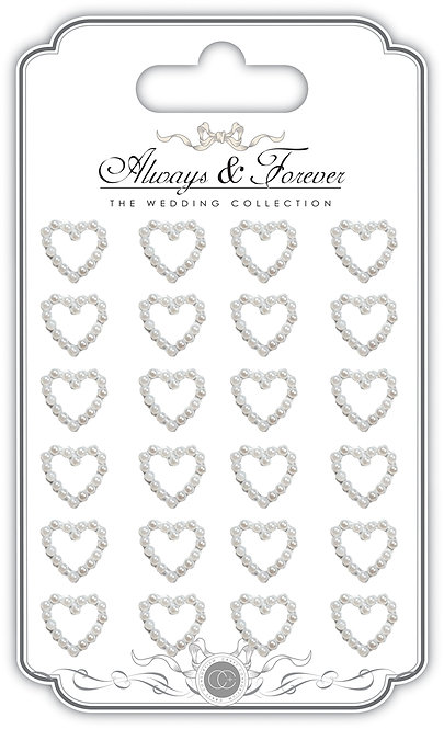 Always & Forever - Adhesive Pearl Heart Chain