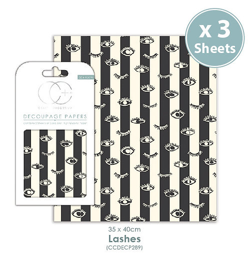 Lashes - Decoupage Papers Set
