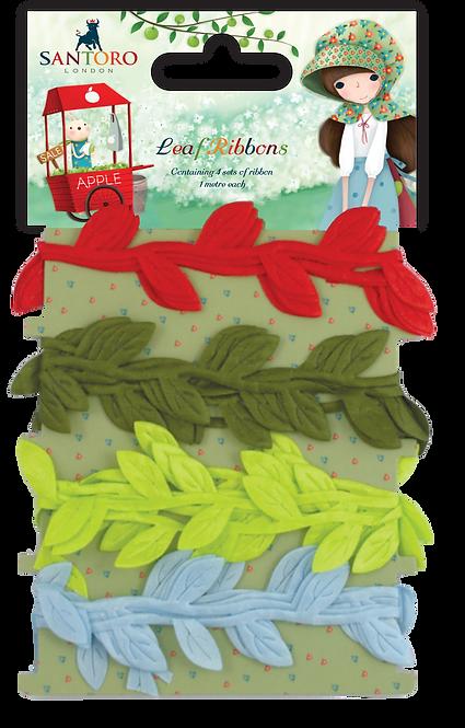 Santoro - Kori Kumi Leaf Ribbon Set