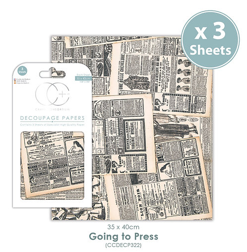 Going To Press - Decoupage Paper Set