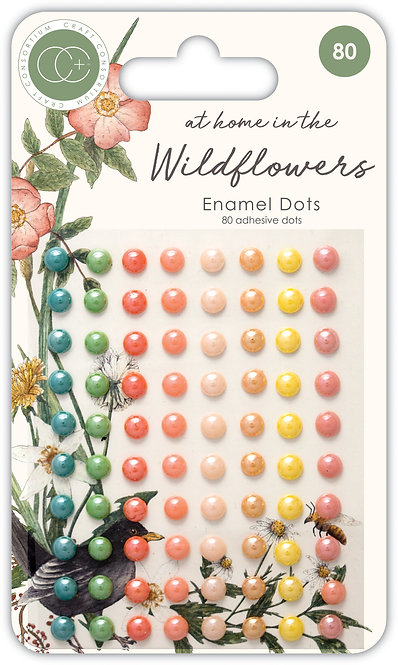 At home in the wildflowers - Adhesive Enamel Dots