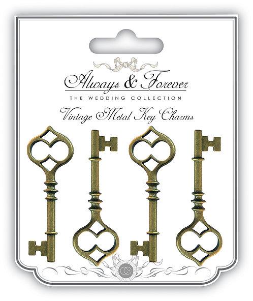 Always & Forever - Vintage Metal Key Charms