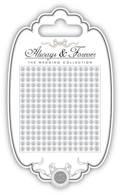 Always & Forever - Adhesive Rhinestone Gems - 3mm
