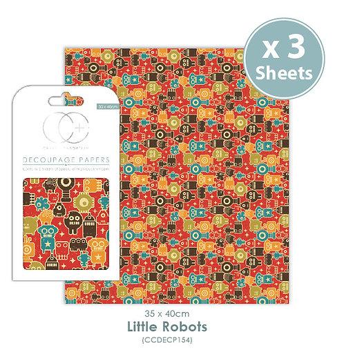 Little Robots - Decoupage Papers Set