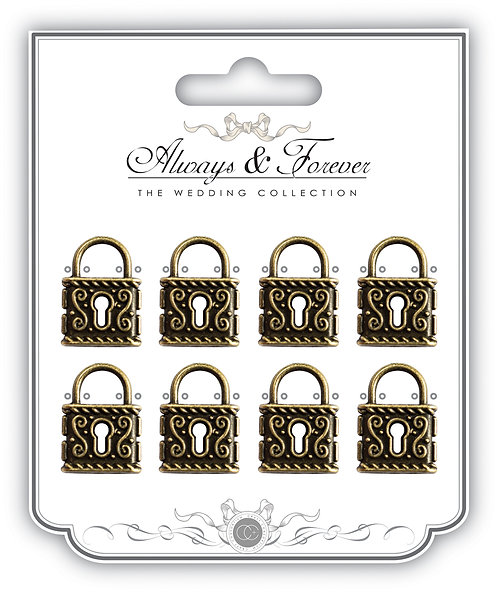 Always & Forever - Vintage Metal Lock Charms