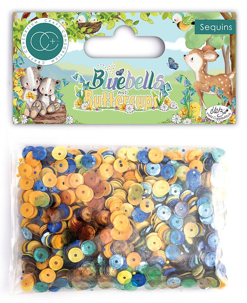 Bluebells and Buttercups - Sequins