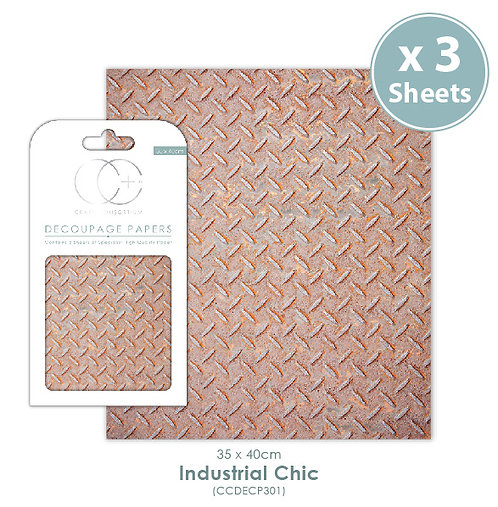 Industrial Chic - Decoupage Papers Set