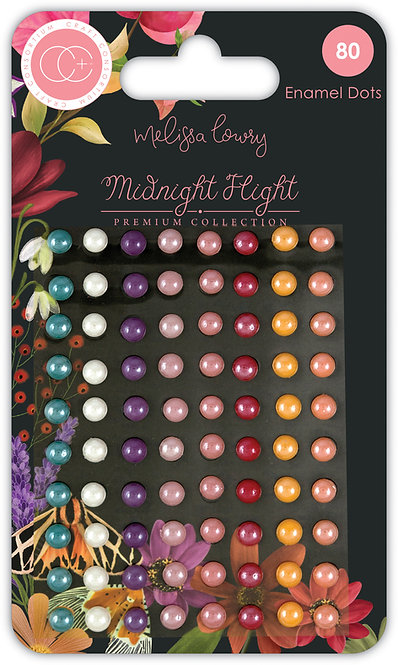 Midnight Flight - Adhesive Enamel Dots
