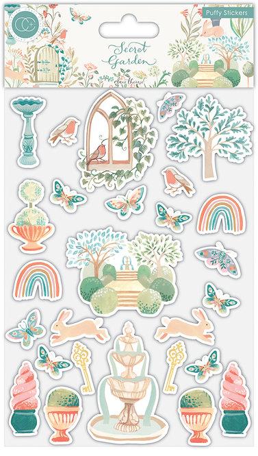 Secret Garden - Premium Puffy Stickers