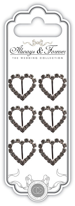 Always & Forever - Heart Diamante Buckles