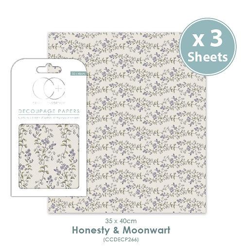 Honesty & Moonwart - Decoupage Papers Set