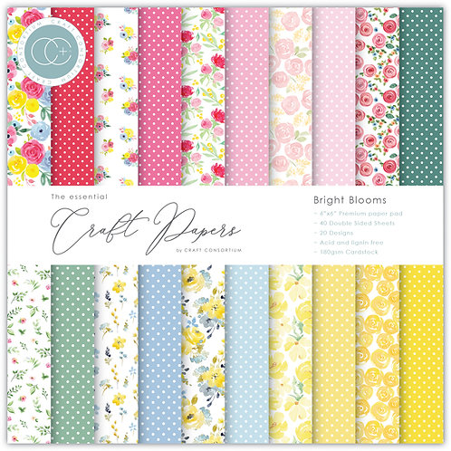 The Essential Craft Papers - 6x6 Bright Blooms
