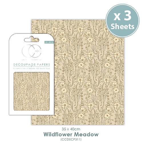 Wildflower Meadow - Decoupage Papers Set