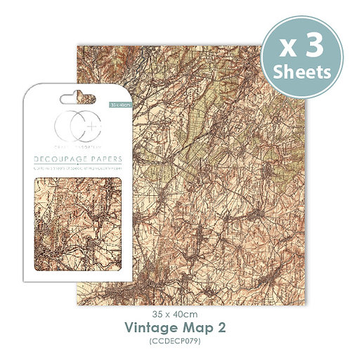 Vintage Map 2 - Decoupage Papers Set