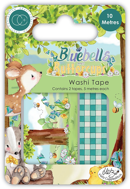 Bluebells and Buttercups - Premium Washi Tape