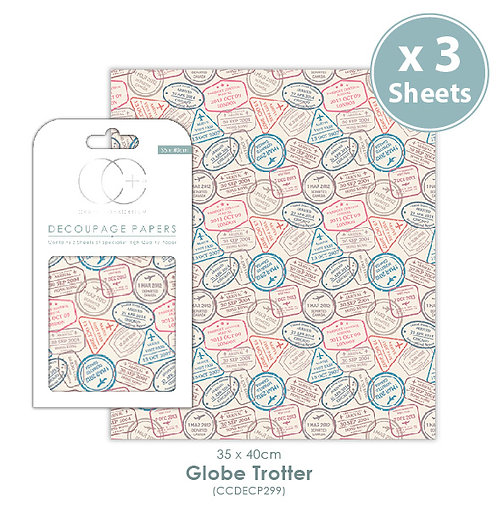 Globe Trotter - Decoupage Papers Set