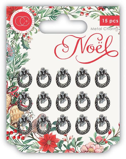 NOEL - Metal Charms - Wreaths