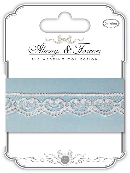 Always & Forever - Elegant Lace Ribbon - Heart Chain