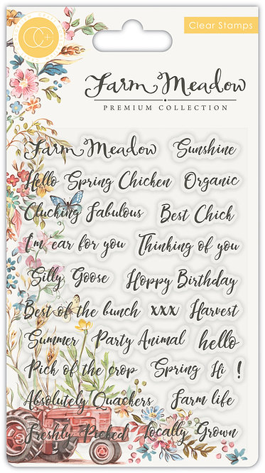 Farm Meadow - Stamp Set - Sentiments
