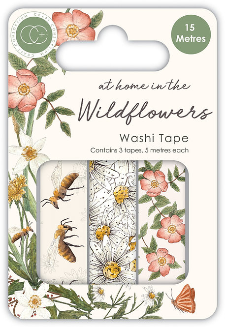 At home in the wildflowers - Washi Tape