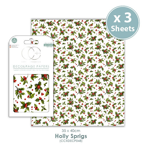 Holly Sprigs - Decoupage Papers