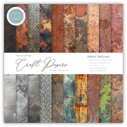 The Essential Craft Papers - 6x6 Metal Textures