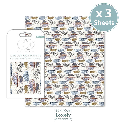 Loxely - Decoupage Papers Set