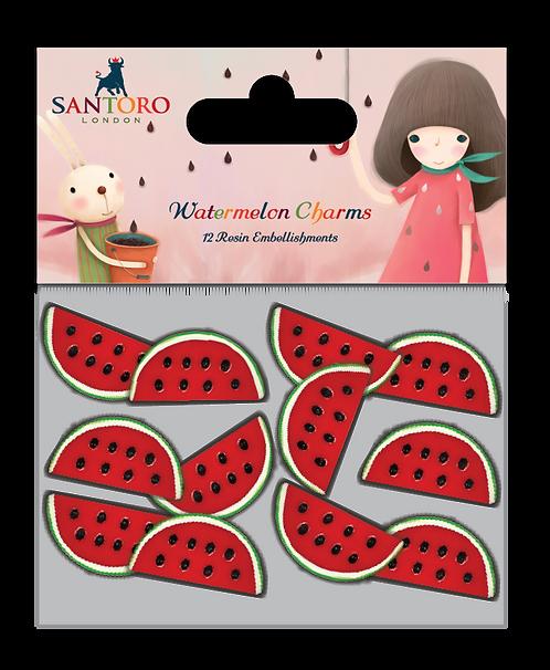 Santoro - Kori Kumi Watermelon Resin Charms