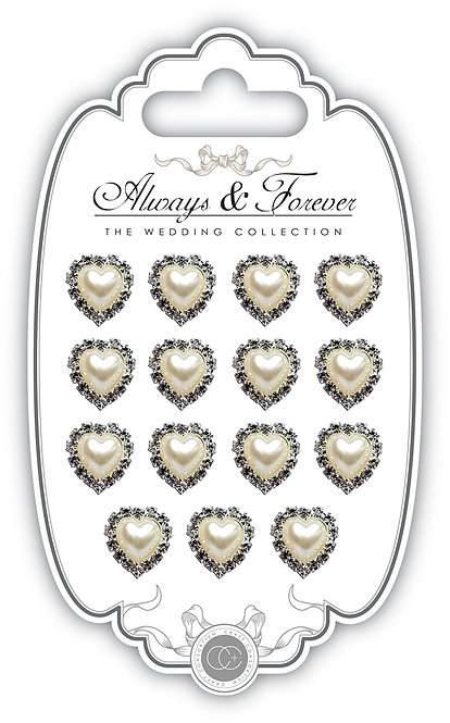 Always & Forever - Pearl & Diamante Hearts