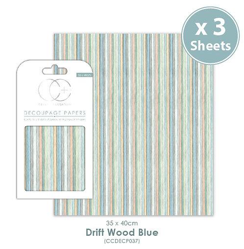 Drift Wood Blue - Decoupage Paper Set