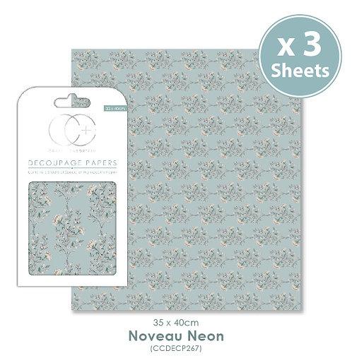 Noveau Neon - Decoupage Papers Set