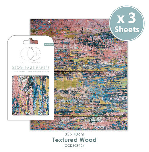 Textured Wood - Decoupage Papers Set