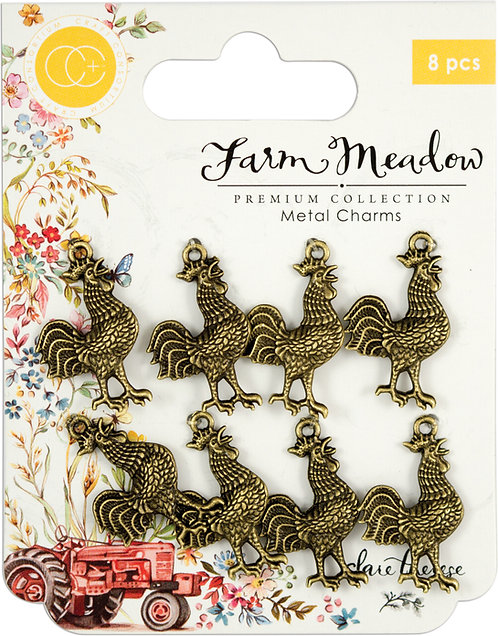 Farm Meadow - Metal Charms - Rooster
