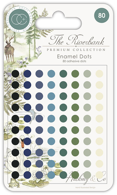 The Riverbank - Adhesive Enamel Dots