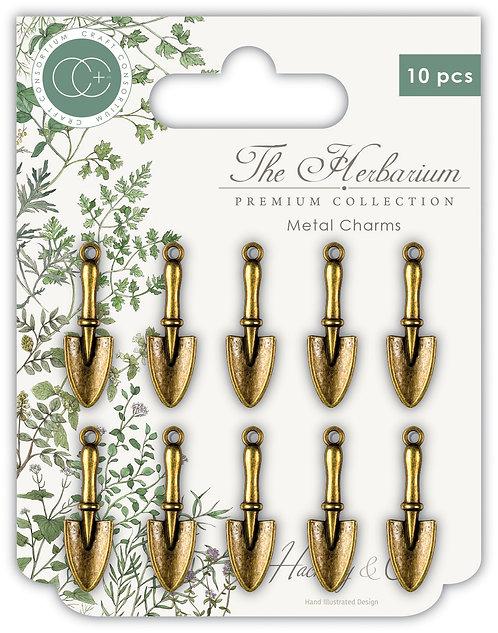 The Herbarium - Trowel Metal Charms