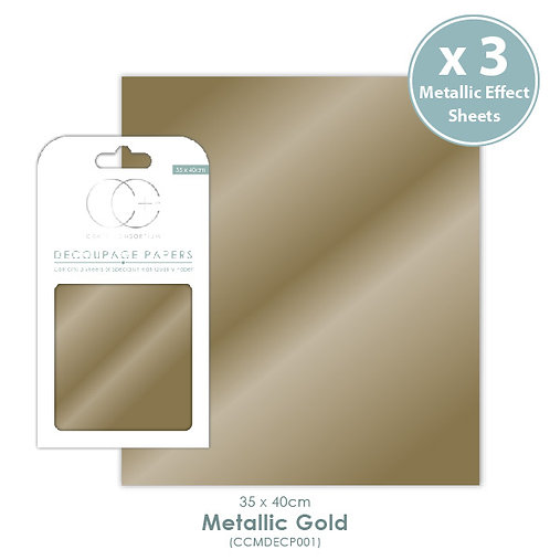 Metallic Gold - Decoupage Papers Set