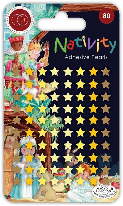 Nativity - Adhesive Pearl Stars