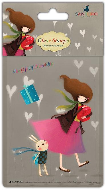 Santoro - Kori Kumi Clear Stamp Set - Gift of Friendship