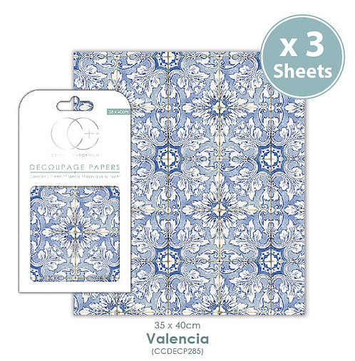 Valencia - Decoupage Papers Set