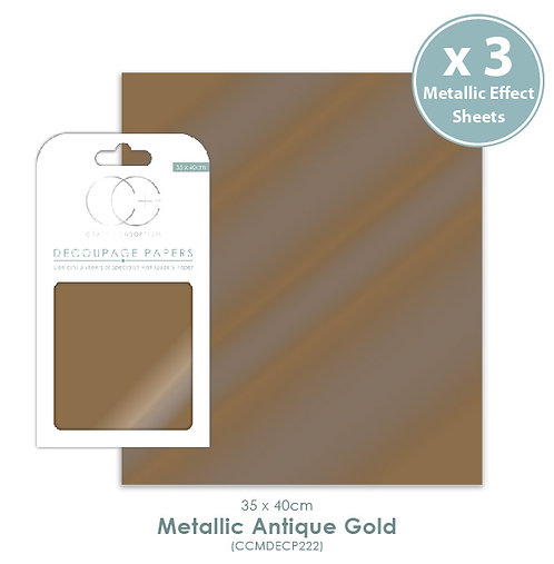 Metallic Antique Gold - Decoupage Papers Set