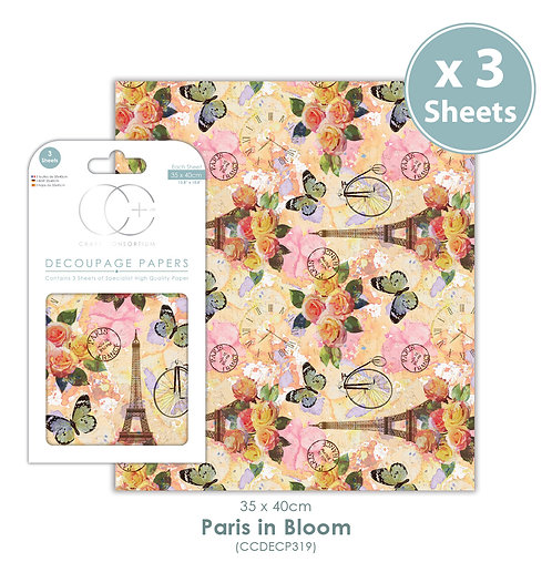 Paris in Bloom - Decoupage Paper Set