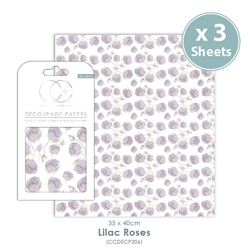 Lilac Roses - Decoupage Papers Set