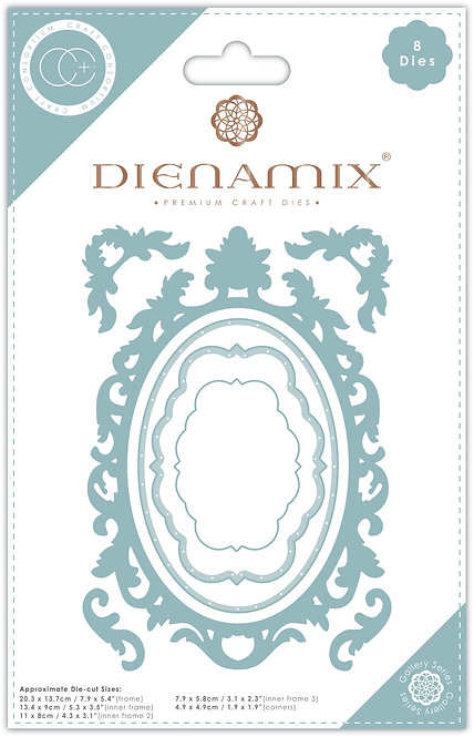 Dienamix - A5 Ornate Oval Frame - Cutting Die