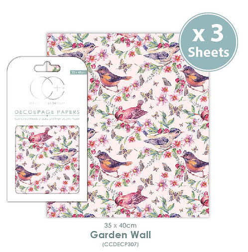 Garden wall - Decoupage Papers Set