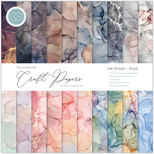 The Essential Craft Papers  - Ink Drops - Dusk