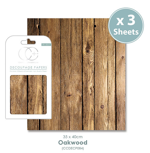 Oakwood - Decoupage Paper Set