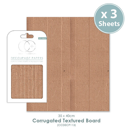Corrugated Textured Board - Decoupage Papers Set